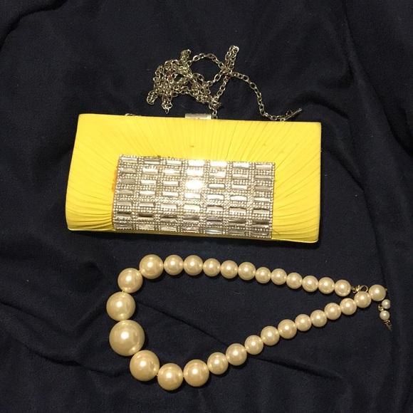 Handbags - Clutch & Necklace